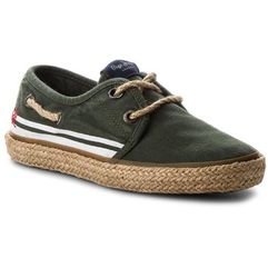 Espadryle - sailor tape pbs10085 khaki green 765 marki Pepe jeans