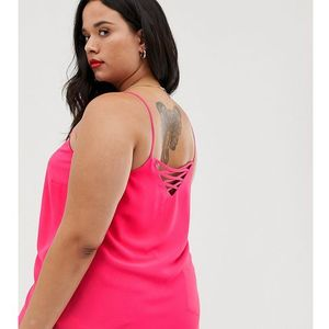 New Look Curve cross back cami in pink - Red, kolor czerwony