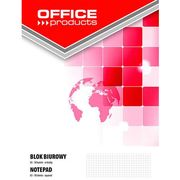 Office products Blok biurowy , a5, w kratkę, 50 kart., 60-80gsm