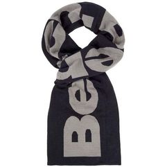 Szalik - colourblock corp scarf black beauty (bk11179) rozmiar: os marki Bench