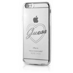 Futerał Guess heart silver hardcase signature Apple iPhone 6 / 6S, GUHCP6TRHS