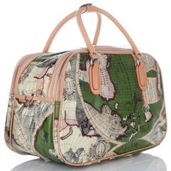 8df79b3ebf520 Or amp mi Duża torba podróżna kuferek world multikolor - zielona (inne ...