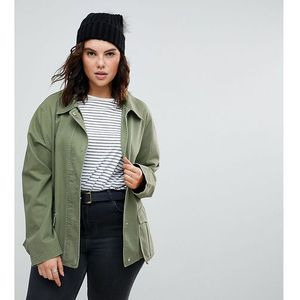 Asos design curve washed cotton jacket - green marki Asos curve