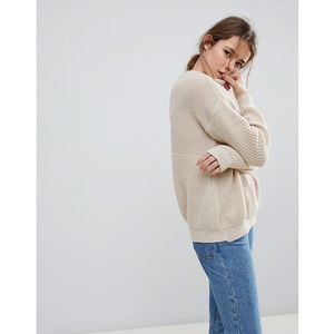 Daisy Street Relaxed Jumper - Cream, kolor beżowy