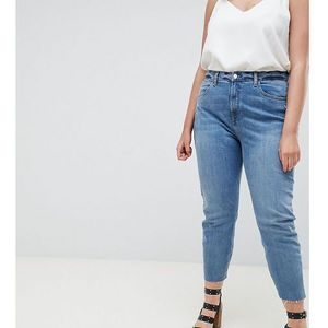 River Island Plus Raw Hem Skinny Jeans - Blue, kolor niebieski