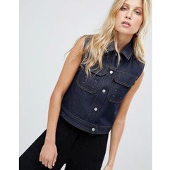 Asos design denim gilet in indigo - blue