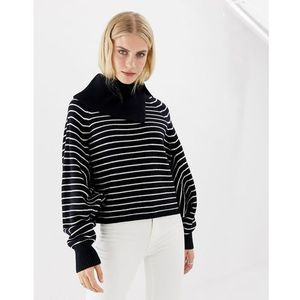 maddie cropped striped roll neck - multi, Allsaints