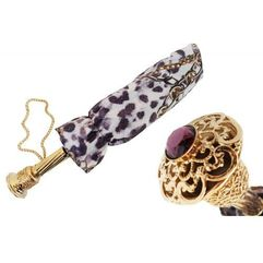 Parasol animalier and chains print folding, 257 58002-7 p14 marki Pasotti