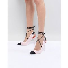 heeled slingback shoe in pink with ankle strap - pink marki Aldo