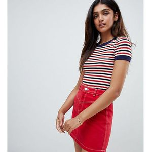 body in fine stripe - red, Glamorous tall