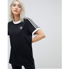adicolor three stripe t-shirt in black - black marki Adidas originals