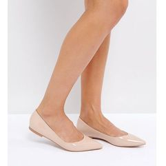 Asos latch pointed ballet flats - beige