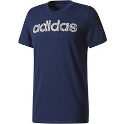 Adidas koszulka linear knitted collegiate navy s (4058032967705)