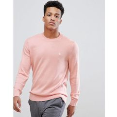 Abercrombie & Fitch Core Icon Moose Logo Crewneck Sweatshirt in Light Pink - Pink, kolor różowy