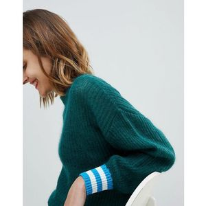 Essentiel Antwerp knitted jumper with rib detail - Navy, kolor szary
