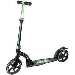 Authentic sports hulajnoga aluminium scooter no rules 205 mm, czarny-zielony