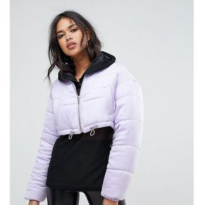 padded cropped jacket - purple, Missguided