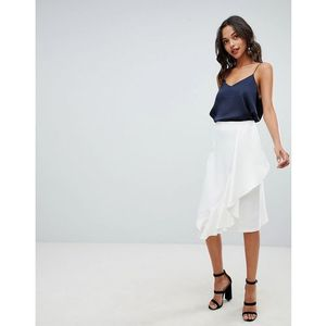 skirt with frill detail - white marki Closet london