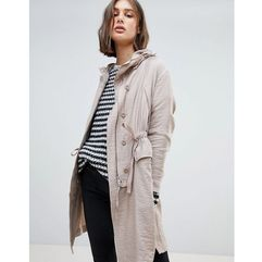Allsaints oversized luxe parka jacket - pink