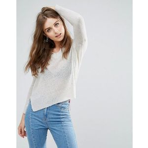 Brave soul v neck boyfriend jumper - grey