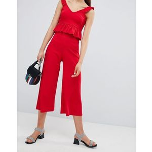 New Look Wide Leg Culottes - Red