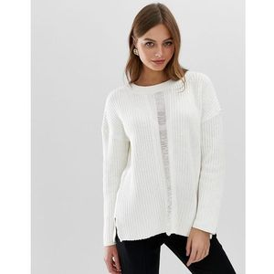 French connection high neck mozart knit - white