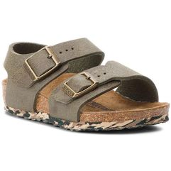 Birkenstock Sandały - new york kids 1008278 sandwashed green