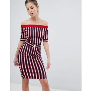 Vesper Stripe Bardot Dress - Multi
