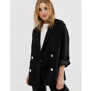 Pimkie double breasted tailored jacket in black - Black, w 3 rozmiarach