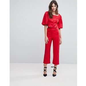 tailored trousers co-ord - red, Fashion union
