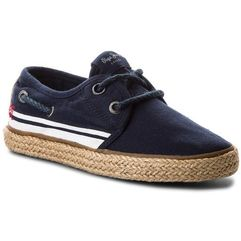 Espadryle - sailor tape pbs10085 navy 595 marki Pepe jeans