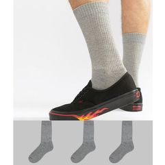 ASOS DESIGN Sports Style Socks In Grey Marl 3 Pack - Grey