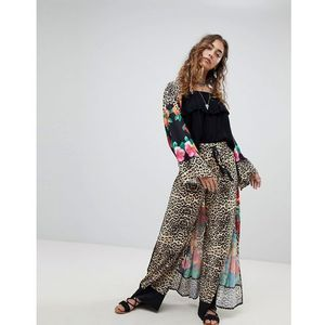 wide leg trousers in leopard print co-ord - multi, Kiss the sky
