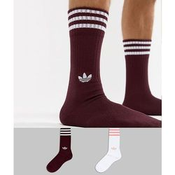 Adidas originals 2 pack crew socks in red dh3361 - red