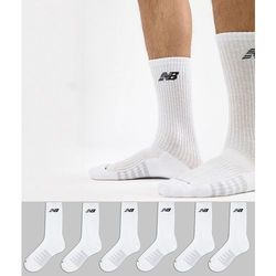 6 pack crew socks in white n5050-801-6eu wht - white, New balance